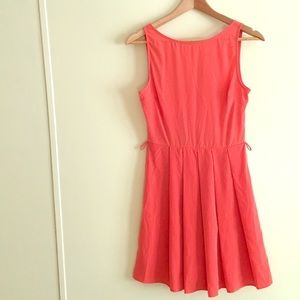 Orange Everly v-back dress